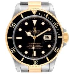 Rolex Submariner Date Steel 18 Karat Yellow Gold Men's Watch 16613