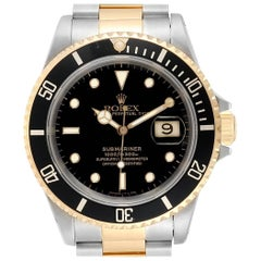 Rolex Submariner Date Steel 18 Karat Yellow Gold Men's Watch 16613