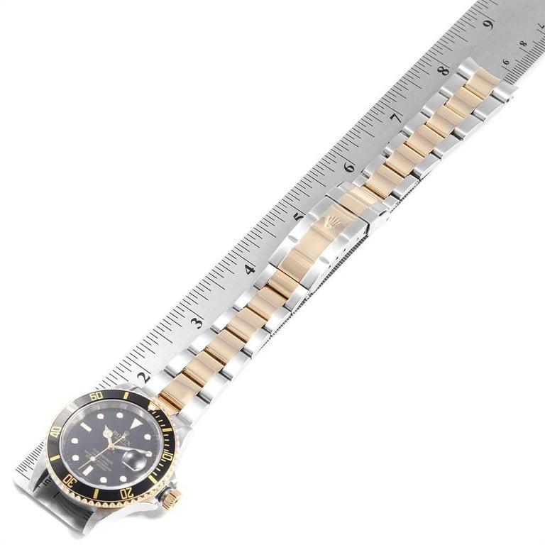 Rolex Submariner Date Steel 18 Karat Yellow Gold Men's Watch 16613 For Sale 6