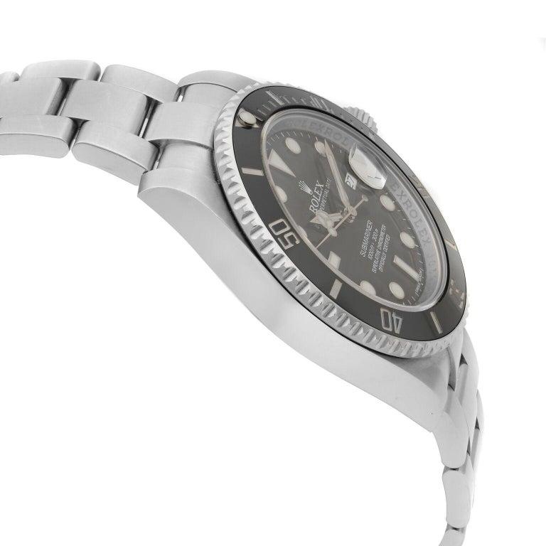 Men's Rolex Submariner Date Steel Ceramic Bezel Black Dial Automatic Mens Watch 116610 For Sale