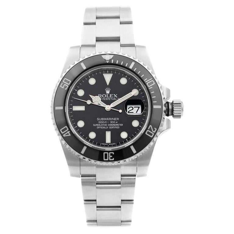 Rolex Submariner Date Steel Ceramic Bezel Black Dial Automatic Mens Watch 116610 For Sale