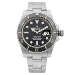 Rolex Submariner Date Steel Ceramic Black Dial Automatic Men's Watch 116610LN