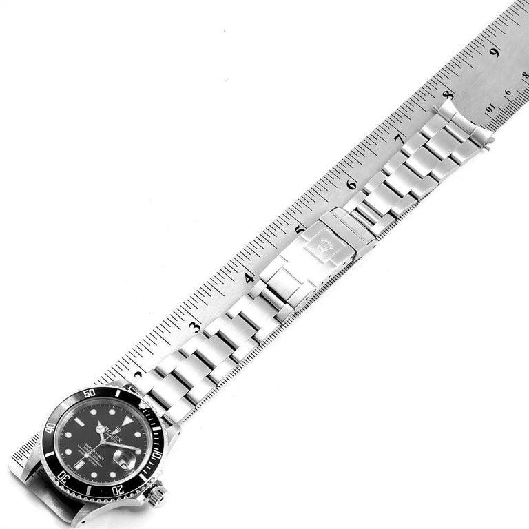 Rolex Submariner Date Steel Men's Vintage Watch 16800 Box 6