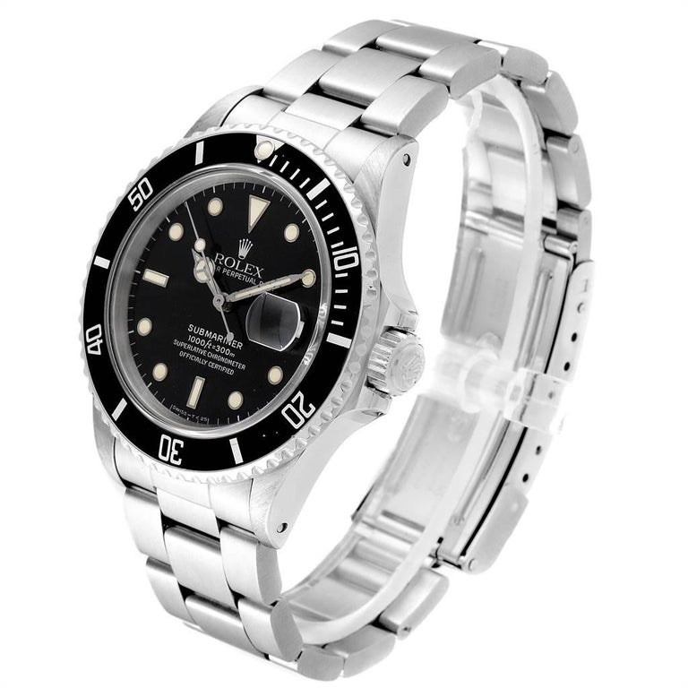 Men's Rolex Submariner Date Steel Men's Vintage Watch 16800 Box