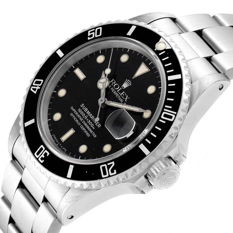 Rolex Submariner Date Steel Men's Vintage Watch 16800 Box 1