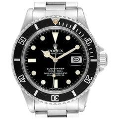 Rolex Submariner Date Steel Men's Vintage Watch 16800 Box