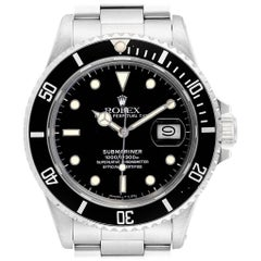 Rolex Submariner Date Steel Men's Vintage Watch 16800 Box