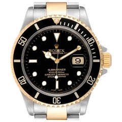 Rolex Submariner Date Steel Yellow Gold Men's Watch 16613 Box Papers