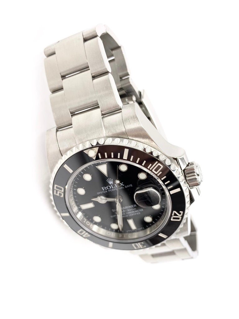 Contemporary Rolex Submariner Date Watch 116610LN For Sale