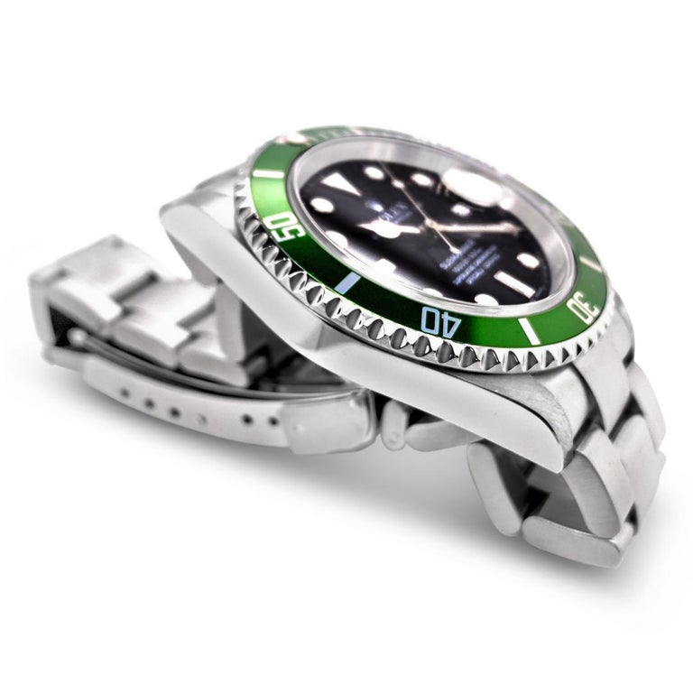 Rolex Submariner Green 50th Anniversary Edition M16610LV In Excellent Condition For Sale In Palm Beach, FL