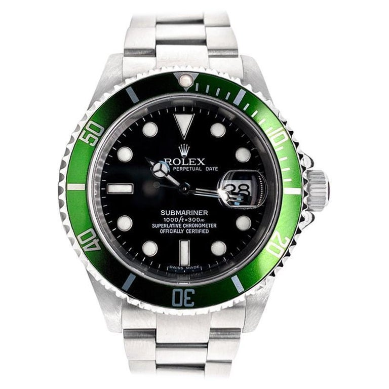 Rolex Submariner Green 50th Anniversary Edition M16610LV For Sale