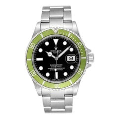 Rolex Submariner Green 50th Anniversary Flat 4 Men's Watch 16610LV