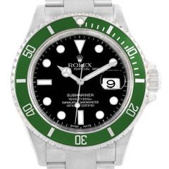 Rolex Submariner Green 50th Anniversary Flat 4 Men's Watch 16610LV