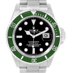 Rolex Submariner Green 50th Anniversary Kermit Watch 16610LV Unworn