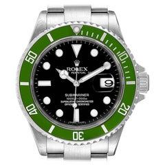 Rolex Submariner Green 50th Anniversary Men's Watch 16610LV Box Card