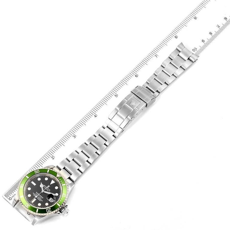 Rolex Submariner Green 50th Anniversary Men's Watch 16610LV Box Papers For Sale 7