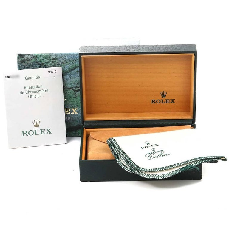 Rolex Submariner Green 50th Anniversary Men's Watch 16610LV Box Papers For Sale 9