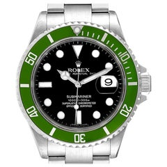 Rolex Submariner Green 50th Anniversary Men's Watch 16610LV Box Papers