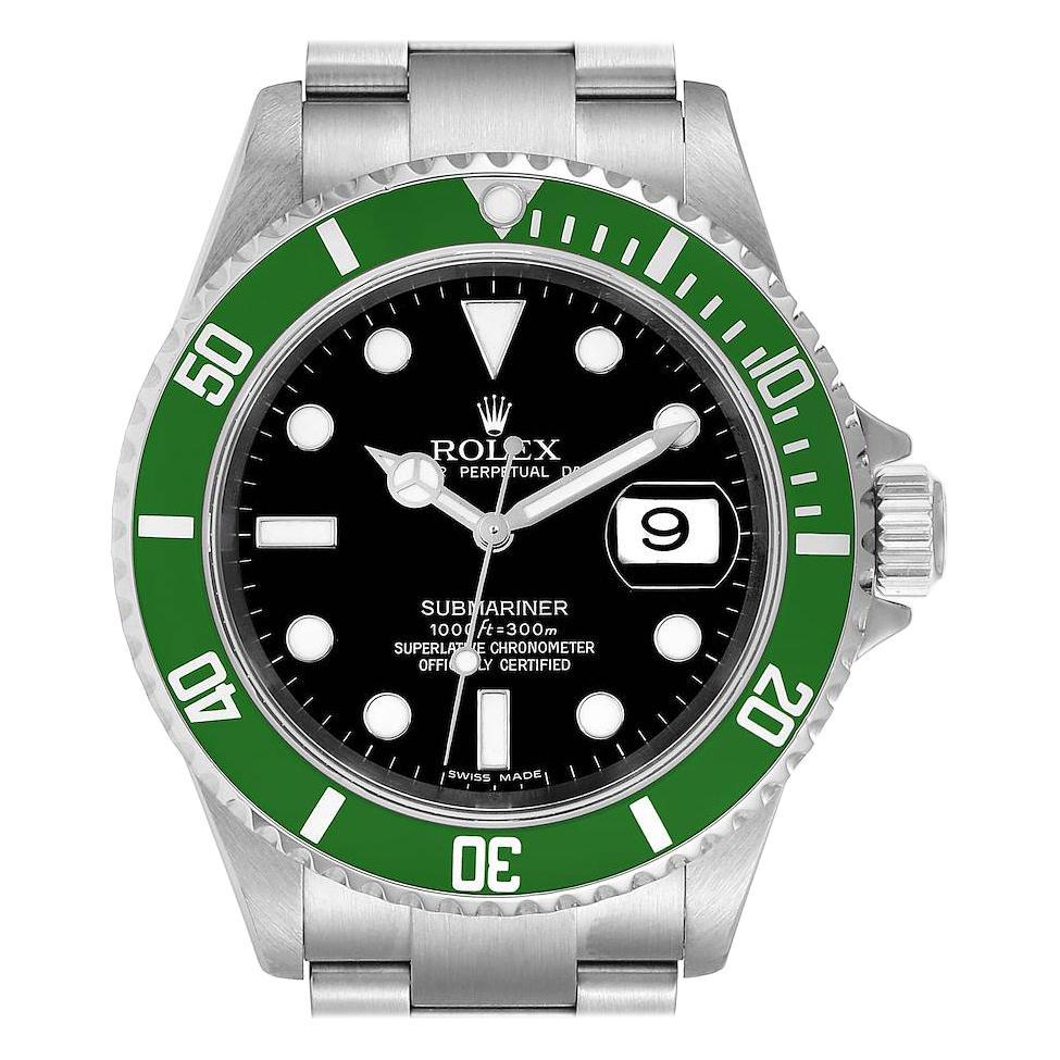 Rolex Submariner Green 50th Anniversary Mens Watch 16610LV