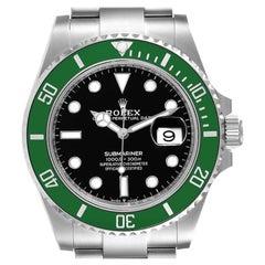 Rolex Submariner Green Kermit Cerachrom Men's Watch 126610LV Box Card