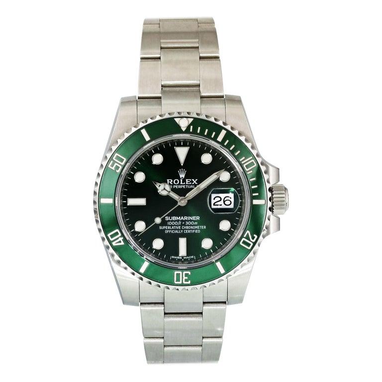 """Rolex Submariner """"Hulk"""" 116610lV Men's Watch For Sale"""
