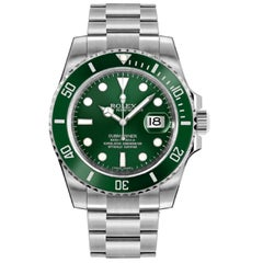 Rolex Submariner Hulk 116610LV Scrambled Serial Green Dial Men's Watch