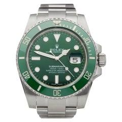 Rolex Submariner Hulk Date Stainless Steel 116610LV Wristwatch