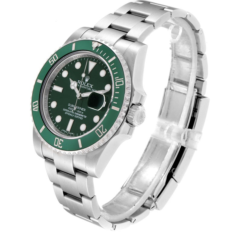 Rolex Submariner Hulk Green Dial Bezel Men's Watch 116610LV Box Card For Sale 1