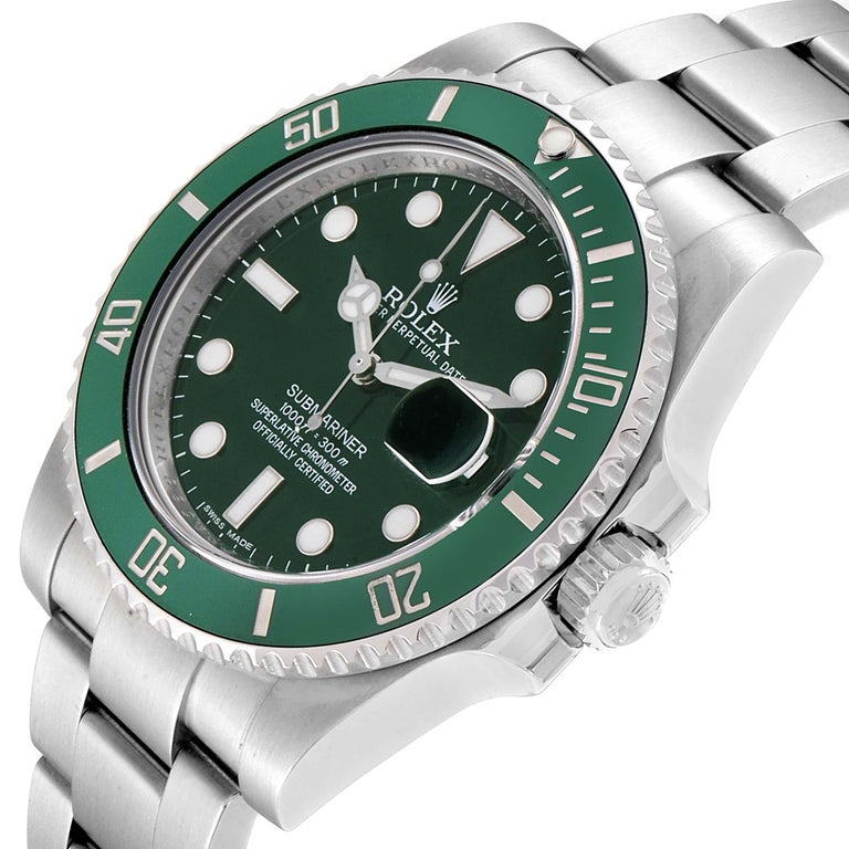Rolex Submariner Hulk Green Dial Bezel Men's Watch 116610LV Box Card For Sale 2