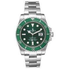 Rolex Submariner Hulk Green Dial Bezel Men's Watch 116610LV Box Card