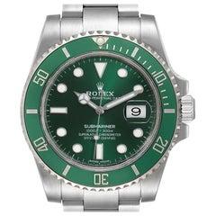 Rolex Submariner Hulk Green Dial Bezel Men's Watch 116610LV Box Card