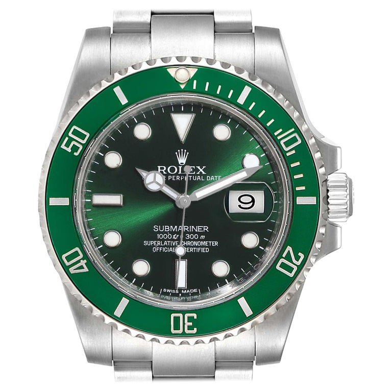 Rolex Submariner Hulk Green Dial Bezel Men's Watch 116610LV Box Card For Sale