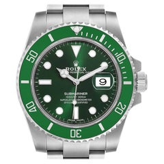 Rolex Submariner Hulk Green Dial Bezel Steel Mens Watch 116610LV Box Card