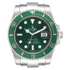 Rolex Submariner Hulk Green Dial Bezel Steel Men's Watch 116610LV Box Card