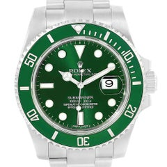 Rolex Submariner Hulk Green Dial Bezel Watch 116610LV Box Card