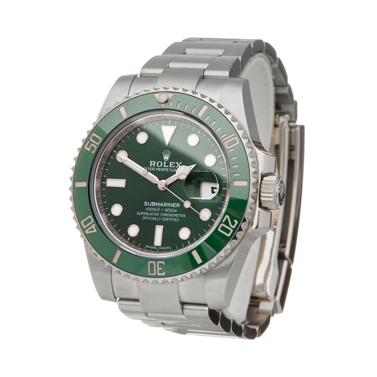 Reference: W6076 Manufacturer: Rolex Model: Submariner Model Reference: 116610LV Age: 14th May 2018 Gender: Men's Box and Papers: Box, Manuals and Guarantee Dial: Black Glass: Sapphire Crystal Movement: Automatic Water Resistance: To Manufacturers