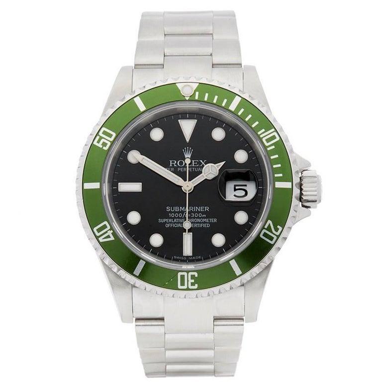 Rolex Submariner Kermit Stainless Steel Men's 16610LV