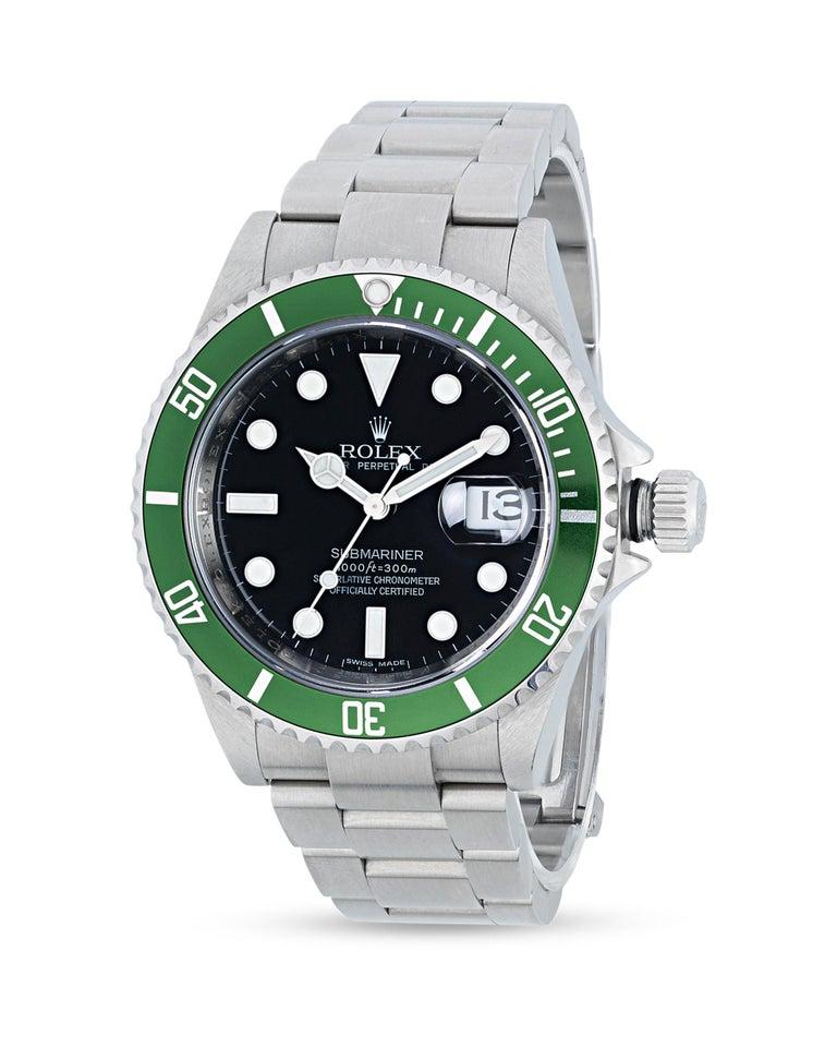 Rolex Submariner Kermit Wristwatch In Excellent Condition For Sale In New Orleans, LA