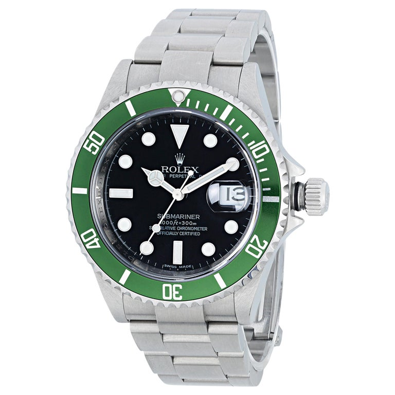 Rolex Submariner Kermit Wristwatch For Sale