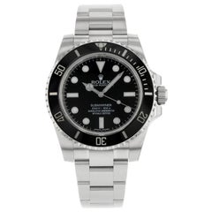 Rolex Submariner No Date Stainless Steel Black Dial Automatic Men's Watch 114060