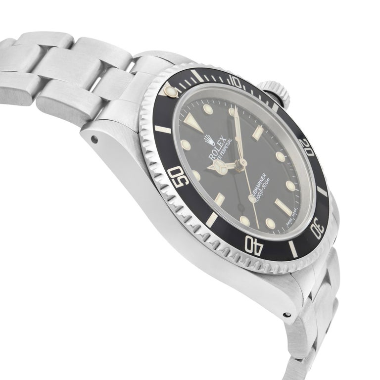 Rolex Submariner No Date Steel Black Dial Automatic Men's Watch 14060 In Excellent Condition For Sale In New York, NY