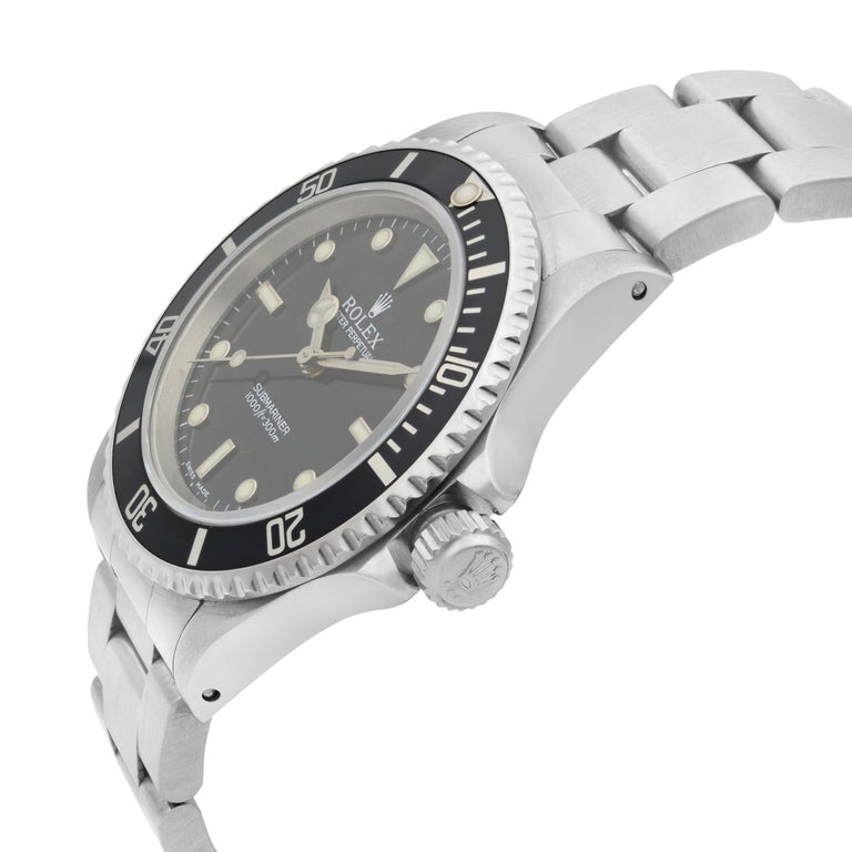 Men's Rolex Submariner No Date Steel Black Dial Automatic Men's Watch 14060 For Sale