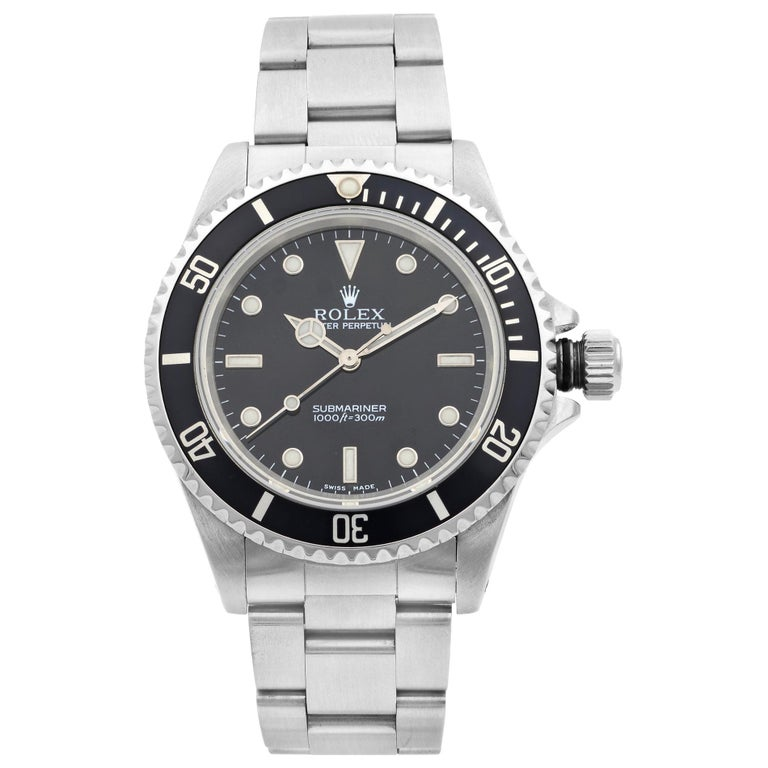 Rolex Submariner No Date Steel Black Dial Automatic Men's Watch 14060 For Sale