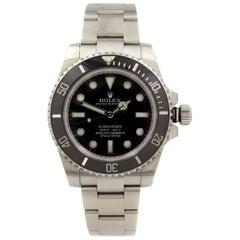 Rolex Submariner No Date Steel Ceramic Black Dial Men's Watch 114060