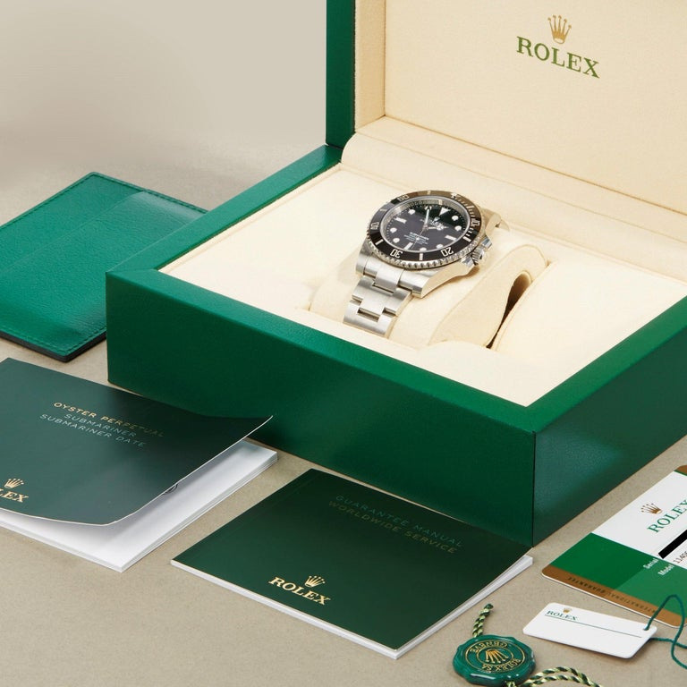 Rolex Submariner Non-Date 114060 Men's Stainless Steel Watch For Sale 7