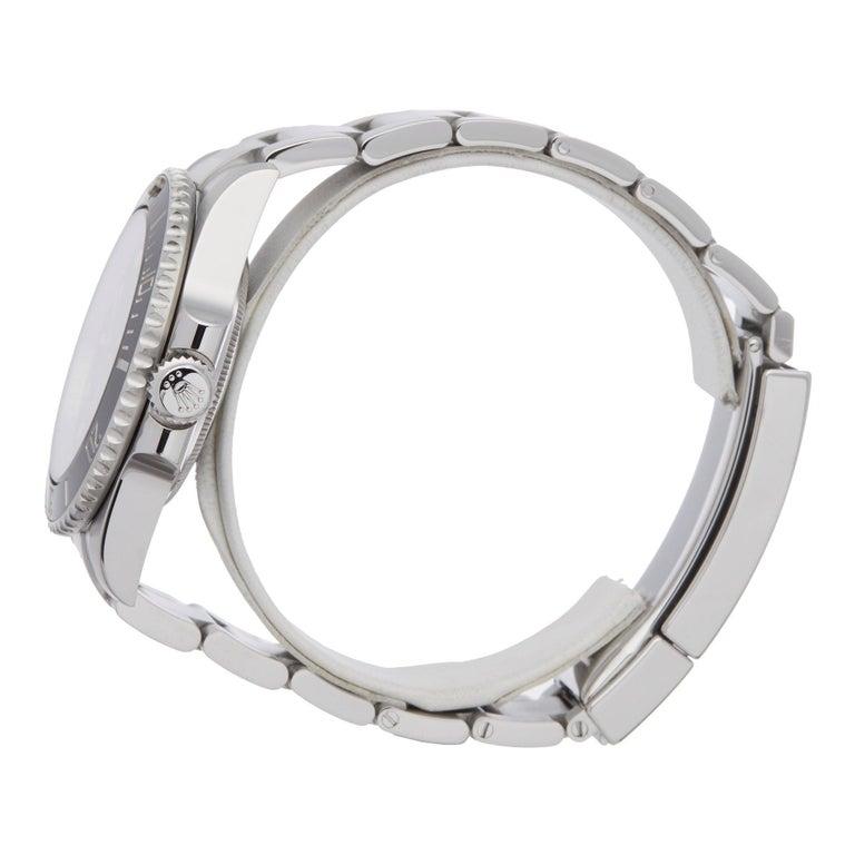 Rolex Submariner Non-Date 114060 Men's Stainless Steel Watch In Excellent Condition For Sale In Bishops Stortford, Hertfordshire