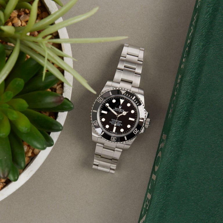 Rolex Submariner Non-Date 114060 Men's Stainless Steel Watch For Sale 5