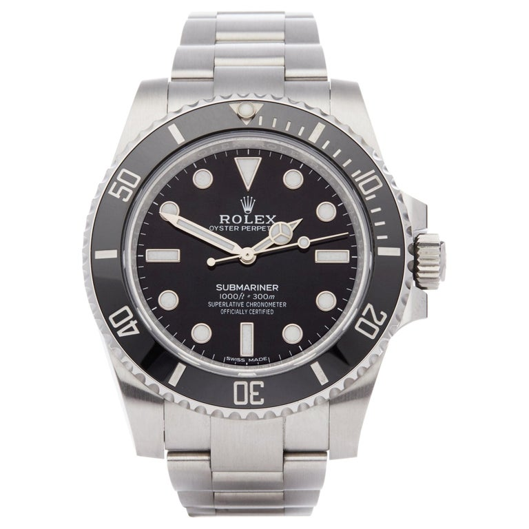 Rolex Submariner Non-Date 114060 Men's Stainless Steel Watch For Sale