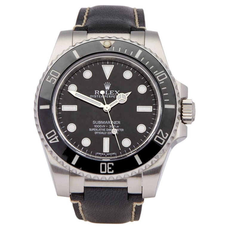 Rolex Submariner Non Date 114060 Men's Stainless Steel Watch For Sale