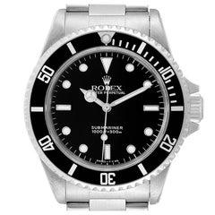 Rolex Submariner Non-Date 2 Liner Tritium Steel Mens Watch 14060